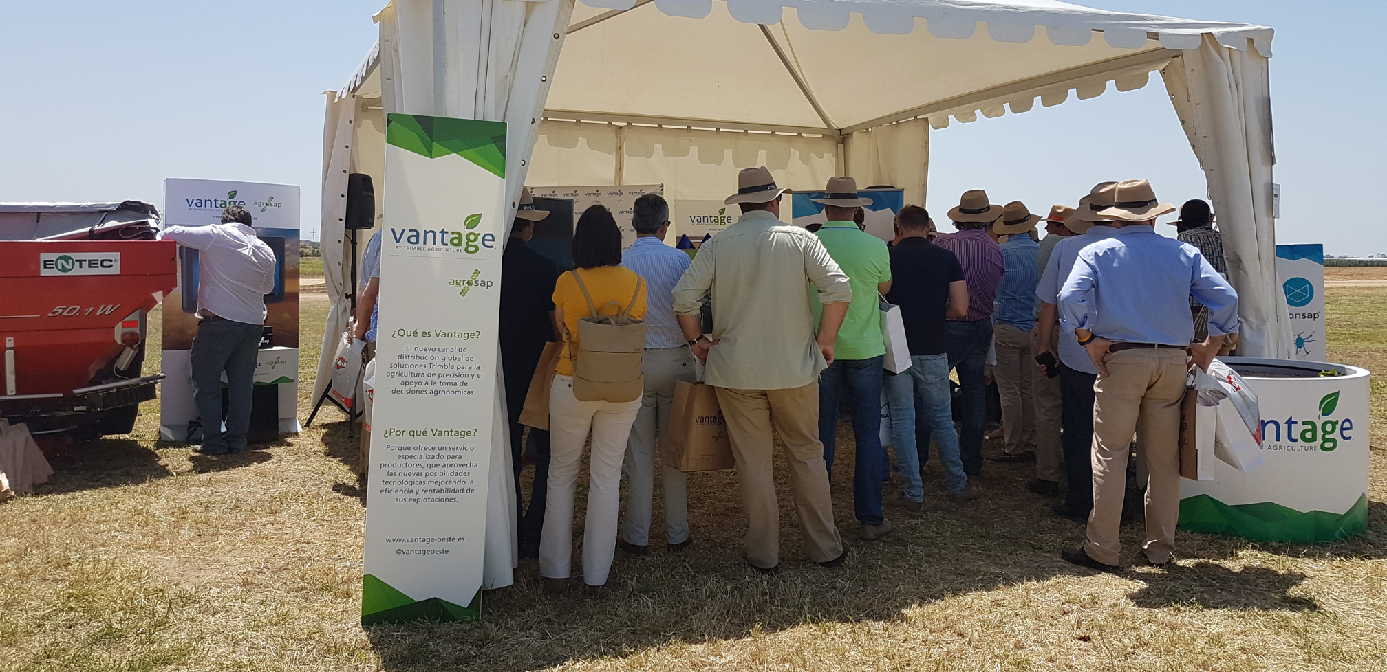 Stand de Vantage by Trimble en el Digital Farming Day